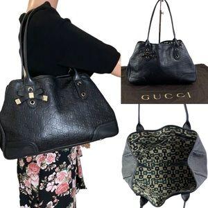 Auth GUCCI Guccissima Princy Leather Tote Bag